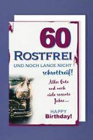 Dies ist der moment, wenn die partei, die heraussticht. 60 Geburtstag Karte Grusskarte Sekt Rostfrei Oldtimer 16x11cm Ebay