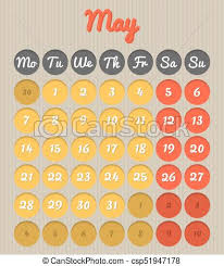 calendar for the month of may month planning calendar may 2018 modern month planning vectors