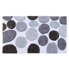 bath rug cotton 50x30 inch latex spray non skid backing multiple gray