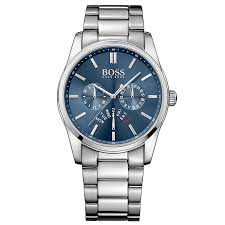 men s watches designer and swiss watches ernest jones hugo boss men s stainless steel blue dial bracelet watch product number 3032450