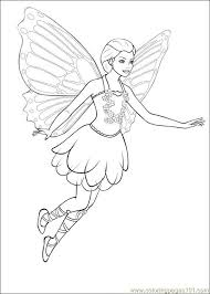 Barbie Mariposa 02 Coloring Page Free Barbie Coloring Pages