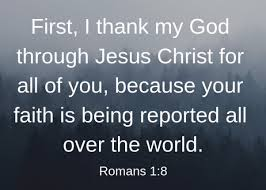 Image result for romans 1:8