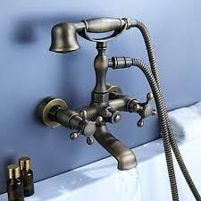 wall mounted bathtub faucets whole luxury antique brass wall mounted bathtub faucet old style traditional bath