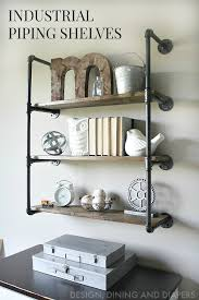 learn how to make these farmhouse style shelves using galvanized pipes and wood the