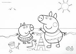 Peppa Pig Disegno Da Colorare N12
