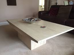 matching coffee table and side solid marble effect ex barker and stonehouse