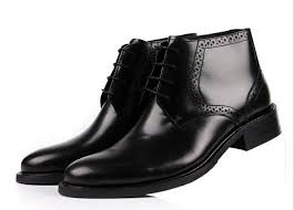 premium winter mens casual dress boots burnished toe mens leather ankle boots