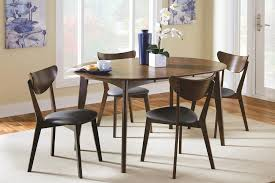 dining room dining room coaster malone midcentury modern 5piece solid wood mid dinette set sideboards buffets