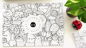 These are funny animals, people, unicorns, cakes, cakes, clouds. Doodle Coloring Book Kawaii Coloring Pages Inktober Doodles Youtube