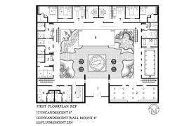 Uncategorized U Shaped Home Plans House Design With Hacienda Floor Plan  Interesting Courtyard