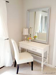 elegant single white chair and stunning gray mirror plus awesome white table makeup desks and single