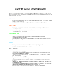 Making A Good Resume Resume Templates