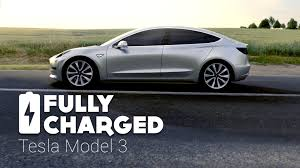 tesla model 3 fully charged