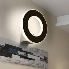 black bathroom light fixtures round