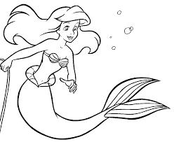 Coloriage Arielle La Petite Sirene L L