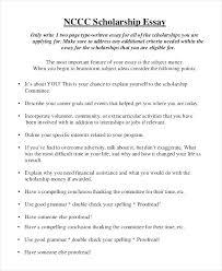 Scholarship Essay Examples Financial Need Essays For Scholarships Examples Examples Of College Scholarship