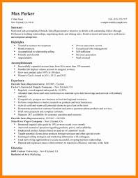 9 Sales Representative Resume Example Sap Appeal