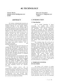 g mobile technology research paper