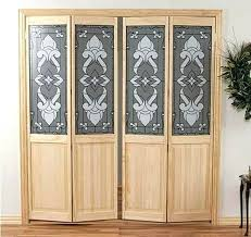 bifold closet doors with glass. Frosted Glass Bifold Closet Doors With Stained Natural Wooden Frame Interior N