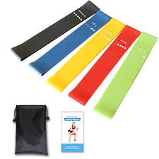 Stretch Band Loops Exercise Chart Kaload 5 Pcs Set Resistance Loop Exercise Bands Fitness Resistance Bands With Instruction Guide Carry Bag