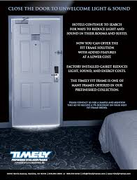 How To Block Light Around A Door Timely Ads Timely Industries