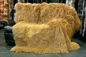 faux mongolian fur rug lamb sheep coat