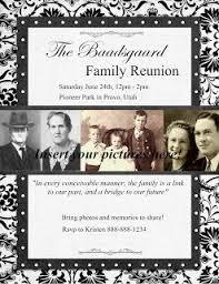 Family Reunion Flyer Ideas Diy Ideas Pinterest Family Reunion