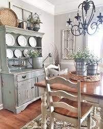 Shabby Chic Dining Room With Farmhouse Style