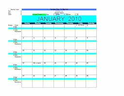 Exercise Program Templates Exercise Schedule Template