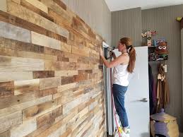15sf reclaimed barn wood stacked wall
