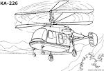 Раскраска для детей вертолет
