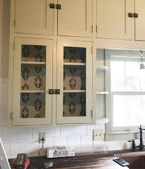 removable wallpaper as kitchen cabinet ...