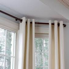 bay window curtain rods mccurtaincounty in bay window curtain rod