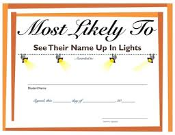 Most Likely To Award Template