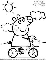 Small Picture Bicycle Peppa Pig Coloring Pages 30723 Bestofcoloringcom