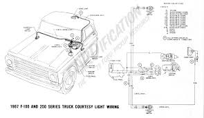 ford truck technical drawings and schematics section h wiring 1967 f 100 f 250 courtesy light