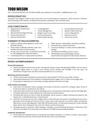 Resume Samples For Executive Directors Of Nonprofits Refrence Resume