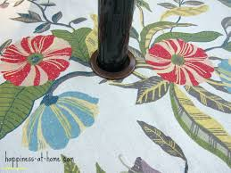 outdoor tablecloths round tablecloth elasticized sunbrella with hole for umbrella
