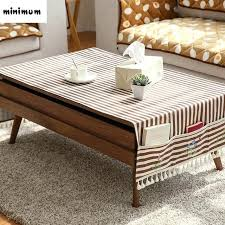 coffee table cloth linen cloth coffee table tablecloth with storage bag cabinet tablecloth cover cloth rural coffee table cloth
