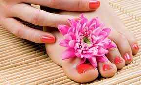 gel manicures and spa pedicures lee