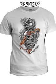 dragon tiger painted t shirts