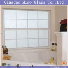 2 12mm opaque tempered frosted window glass for privacy purpose