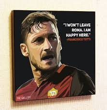 Football Motivational Quotes Enchanting Francesco Totti Roma Soccer Football Fifa Framed Poster Pop Etsy