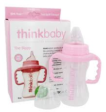 thinkbaby sippy cup stage c 9 months to 2 years pink 9 oz at luckyvitamin com