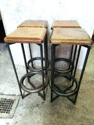 adorable industrial bar stools uk with back canada set of 4 leather bar stools with
