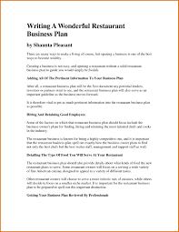 Restaurant Business Plan Template Word Save Business Plan Free