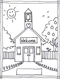 Small Picture Coloring Pages Coloring Pages Of School House Coloring Pages