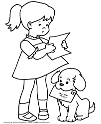 Small Picture Pet Dog Coloring Pages Free Printable Pet Mail Dog Coloring