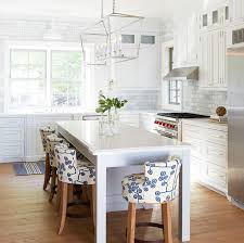 kitchen island with darlana chandelier