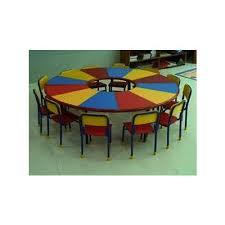 Kids Round School Dinning Table Set at Rs 2 set Kirti Nagar